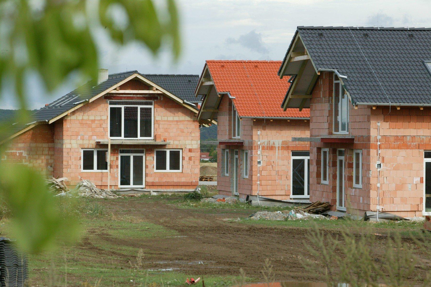 Výstavba rodinných domů (ilustrační foto)