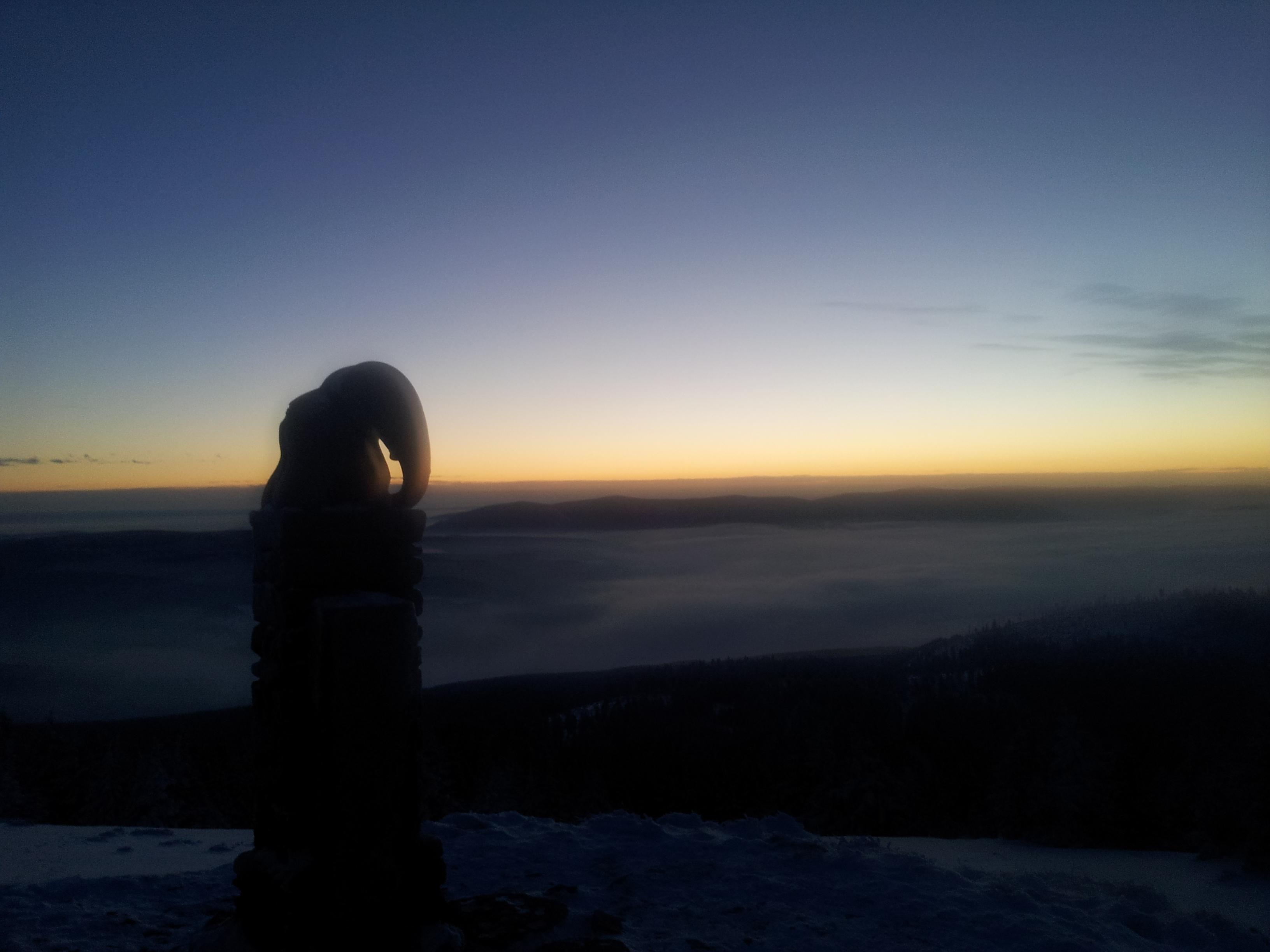 Pohled z vrcholu Králického Sněžníku