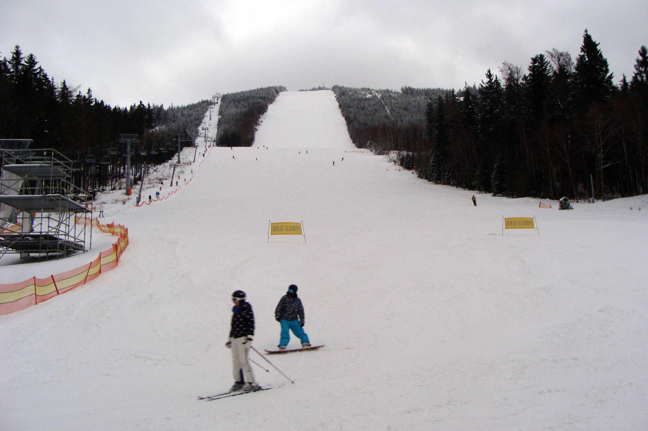 Nejprudší sjezdovka v lyžařském areálu Dolní Morava