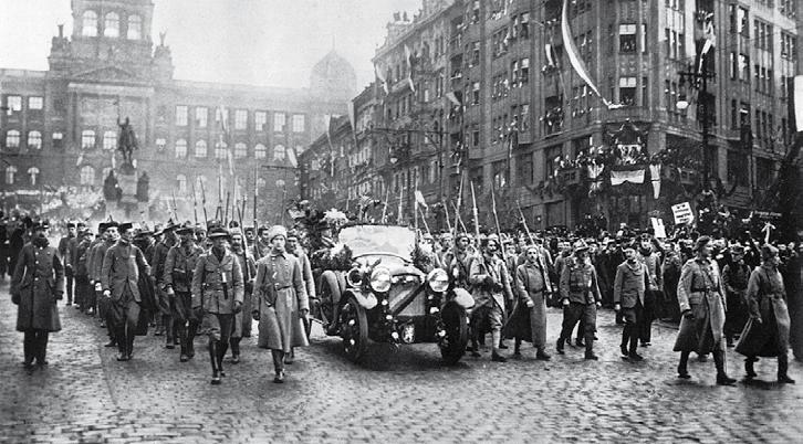 Legionáři s Masarykem (21. 12. 1918)
