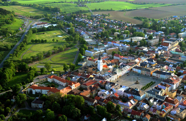 Moravská Třebová z ptačí perspektivy