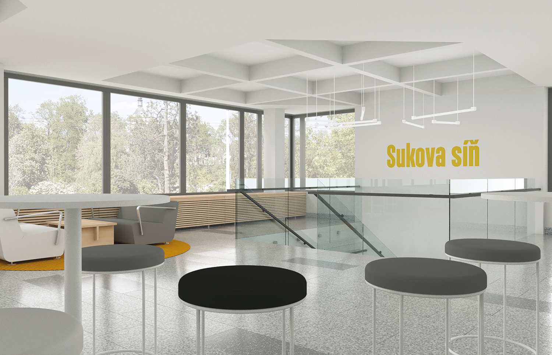 Budoucí vzhled foyer Domu hudby