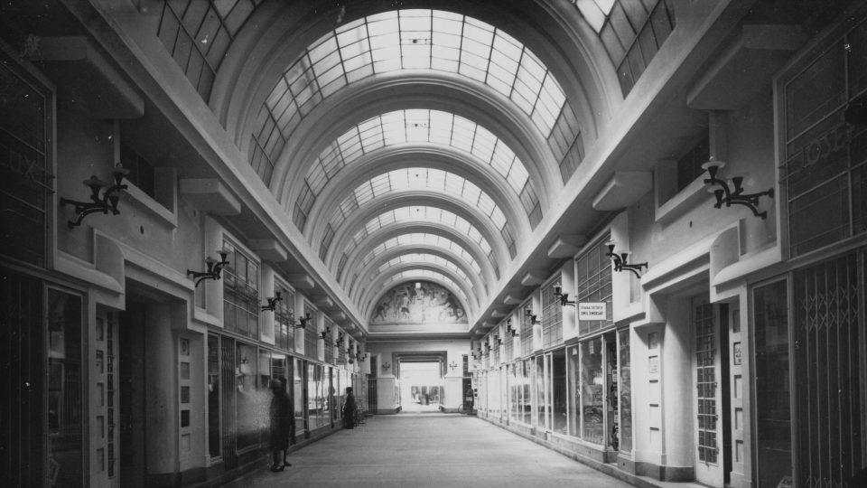 Machoňova pasáž v druhé polovině 20. let 20. století