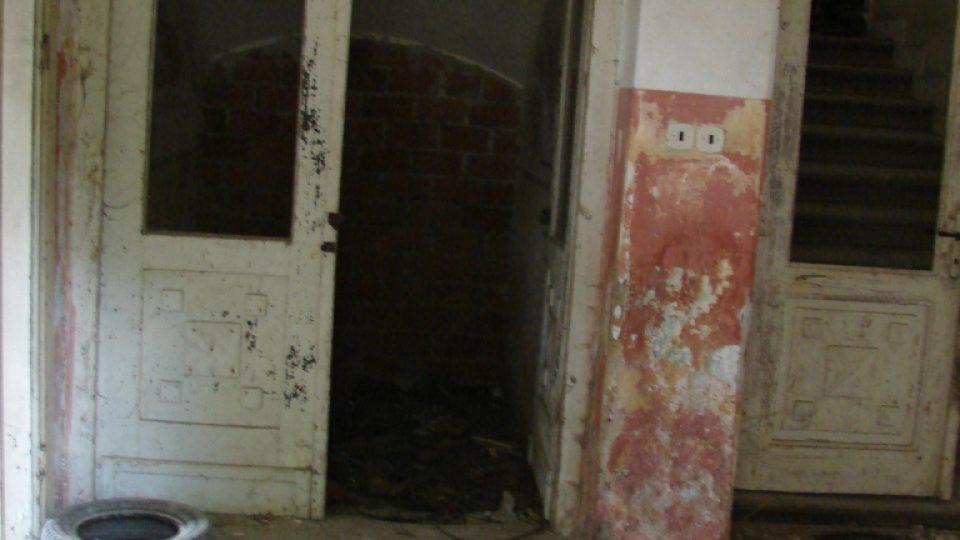Zámek Moravany - vstupní prostory