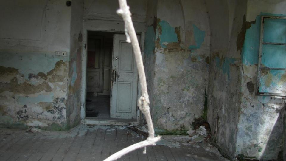 Zámek Moravany - interiér jedné z místností v přízemí