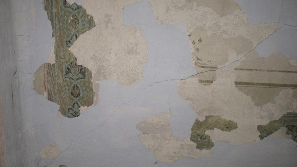 Pivovar Rychmburk v Předhradí - pozůstatky krásné malby v obytné části