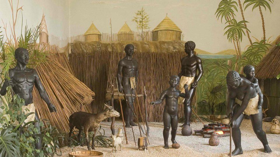 Africká vesnice v muzeu