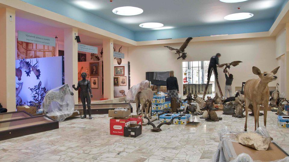Všechny exponáty byly v průběhu rekonstrukce pečlivě uloženy