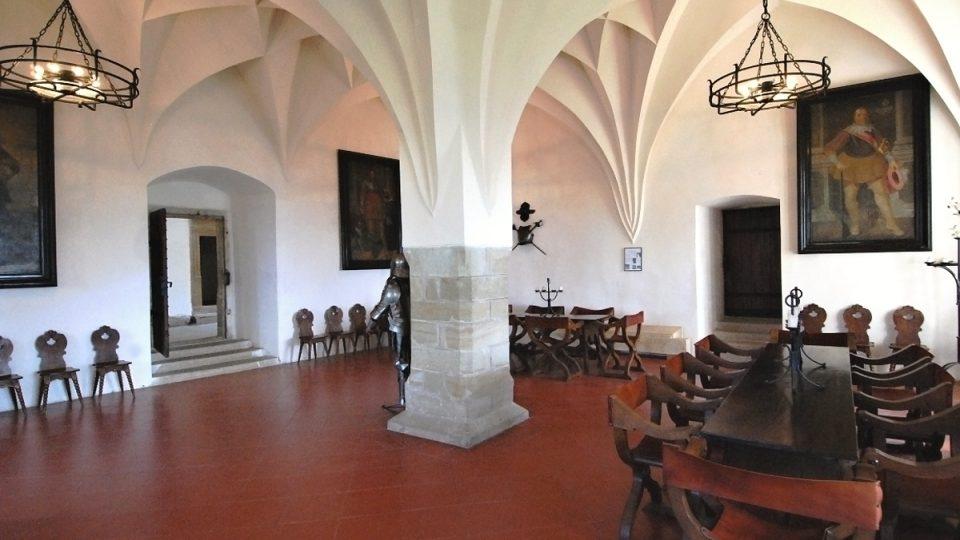 Rytířský sál hradu na Kunětické hoře