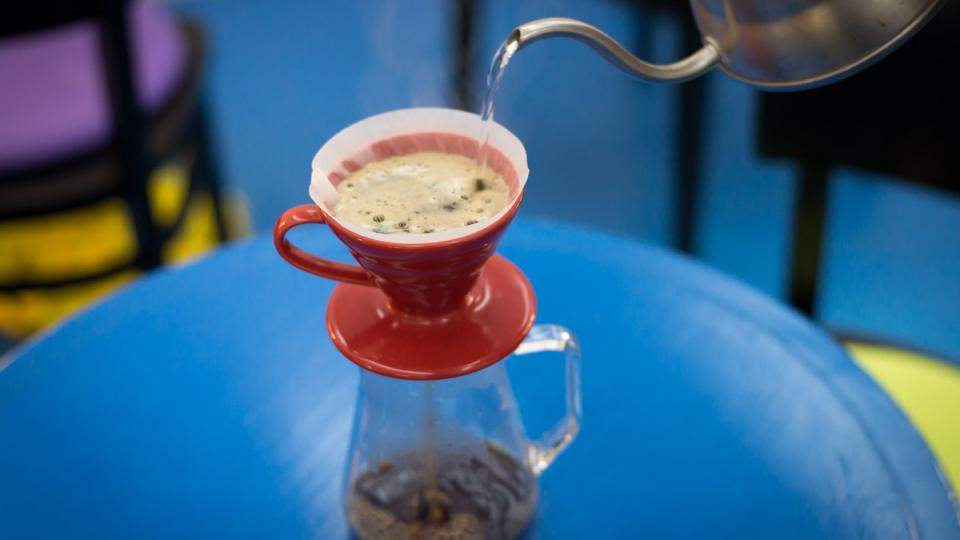 Drip je jednoduchý způsob přípravy překapávané kávy