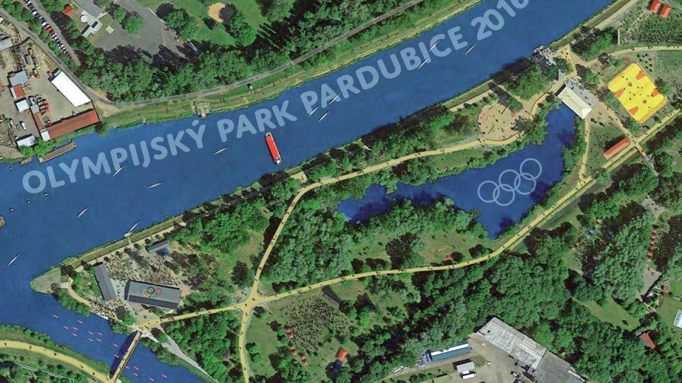 Plánek olympijského parku Na Špici