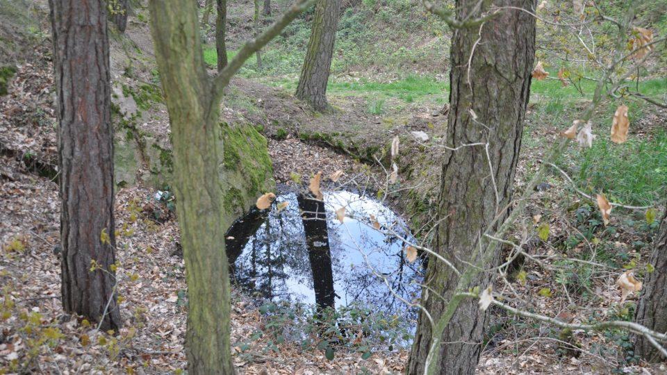 Okolo Raškovic je v lesích několik zatopených lomů