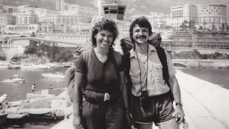 Milan Richter s partnerkou v Monte Carlu v roce 1989