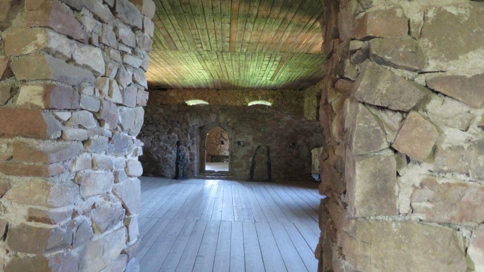 Pohled do rytířského sálu hradu Litice nad Orlicí