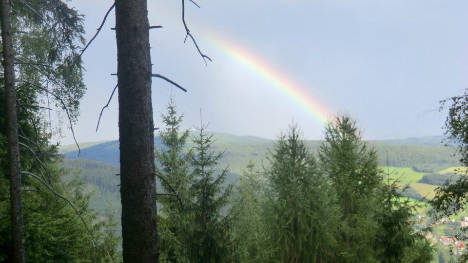 Duha nad Suchým vrchem