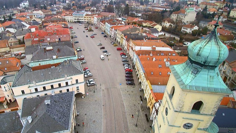 Letecký pohled na Smetanovo náměstí