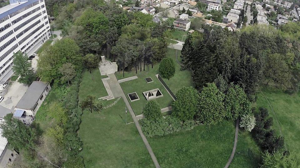 Celkový pohled na podobu památníku od architekta Jana Žalského