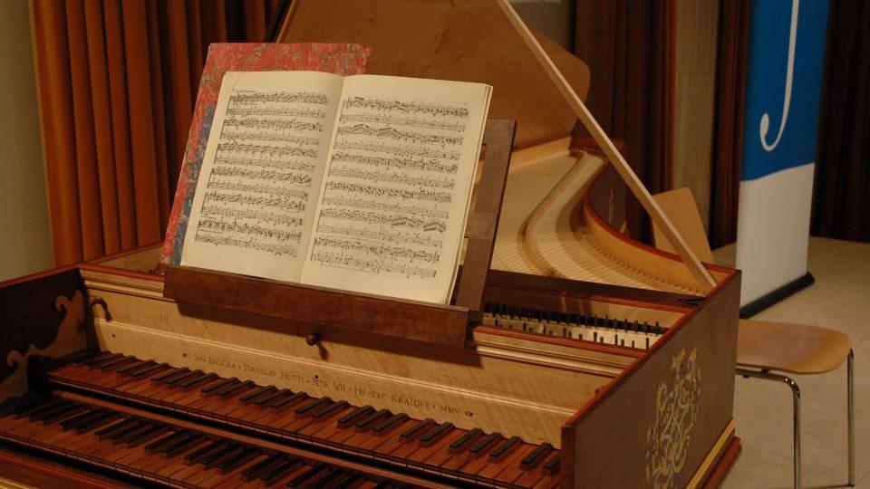 Německé dvoumanuálové cembalo podle Michael Mietke, okolo roku 1710