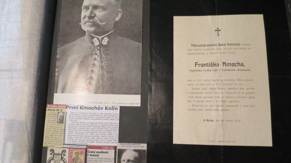 Smuteční oznámení kapelníka Františka Kmocha