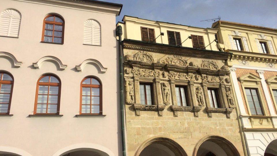 Dům u rytířů v Litomyšli, kde také žil Alois Jirásek