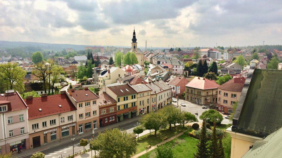Výhled z věže gymnázia