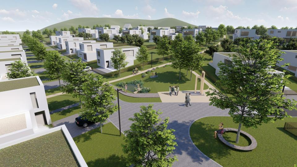 V návrhu počítali architekti s velkou plochou zeleně