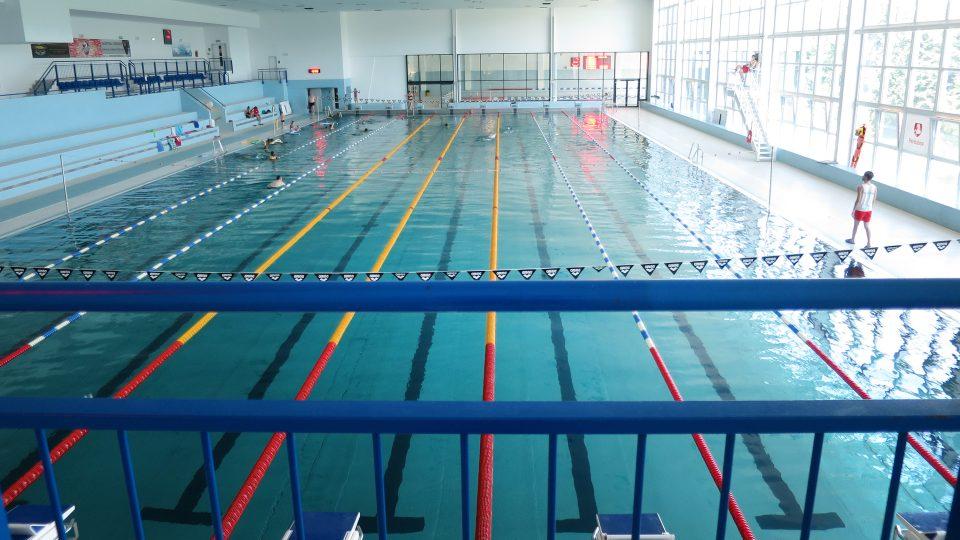 Padesátimetrový plavecký bazén  Aquacentra Pardubice .JPG
