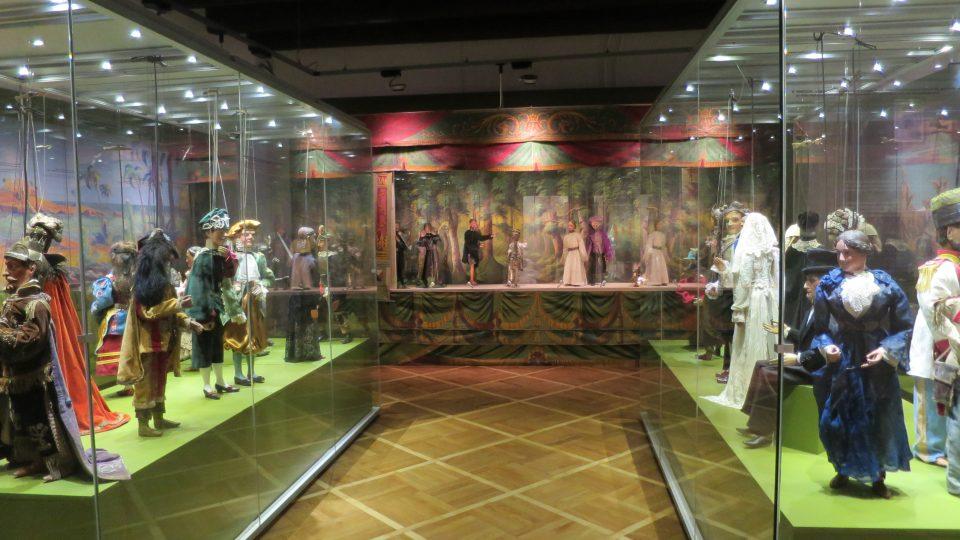 Pohled do části expozice Magický svět loutek