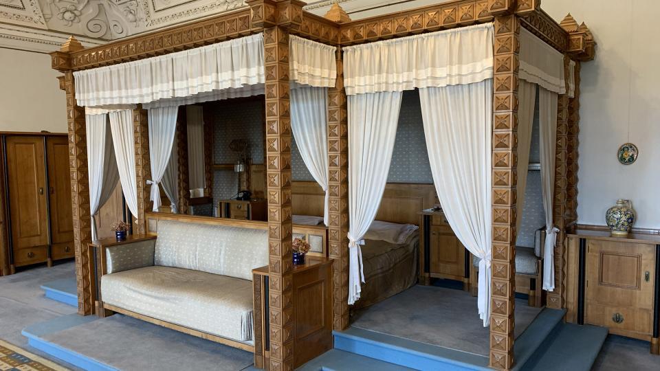 Ložnice na zámku v Novém Městě nad Metují