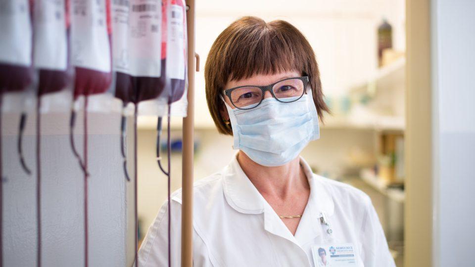 Primářka hematologické-transfuzního oddělení Litomyšlské nemocnice Zdenka Fenclová