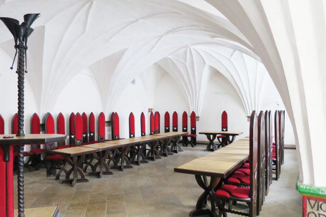 Pohled do ústředního sálu Latinské školy v Moravské Třebové
