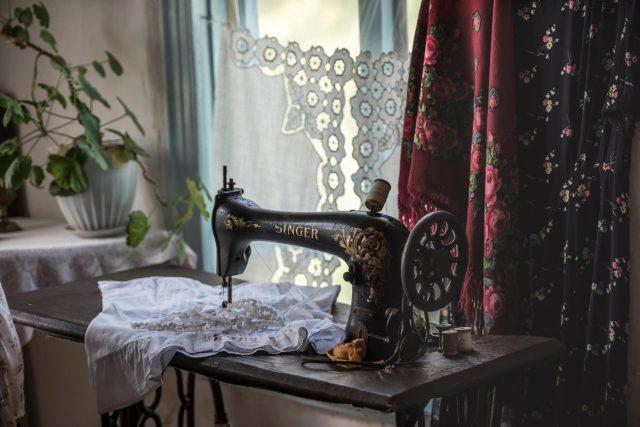 Starý šicí stroj Singer