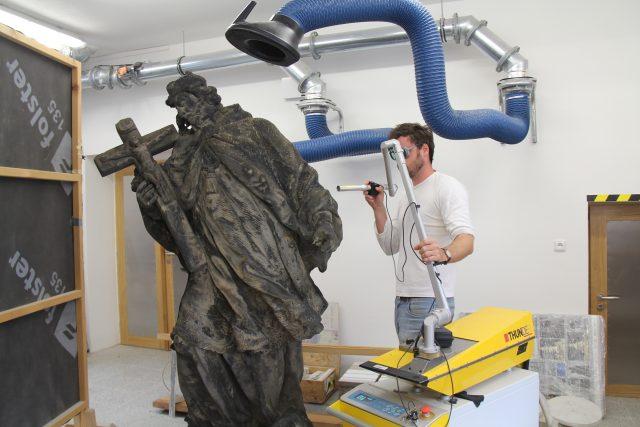 Pohled do Ateliéru restaurování kamene a souvisejících materiálů | foto: Tereza Brázdová