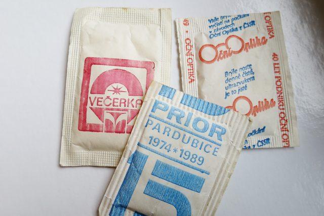 Hygienicky balené cukry bývalého cukrovaru Hrochův Týnec
