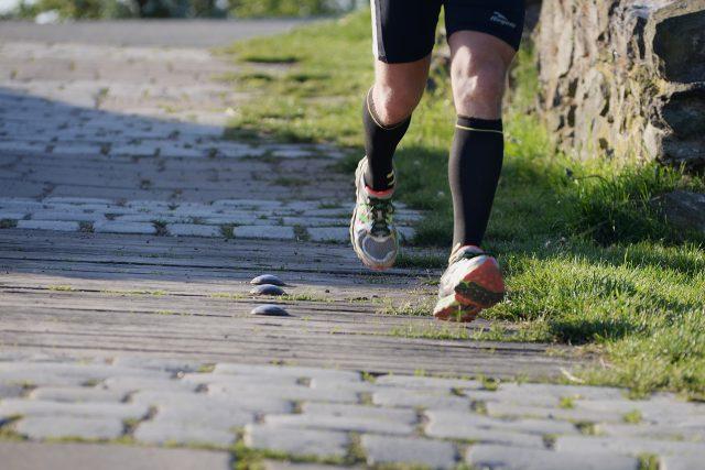 Běžec na Kunětické hoře