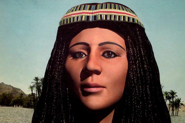 Portrét princezny Hereret vytvořený na základě výzkumu mumie pomocí počítačové tomografie