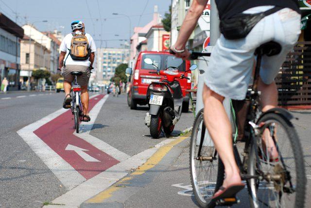 Cyklisté na cyklostezce