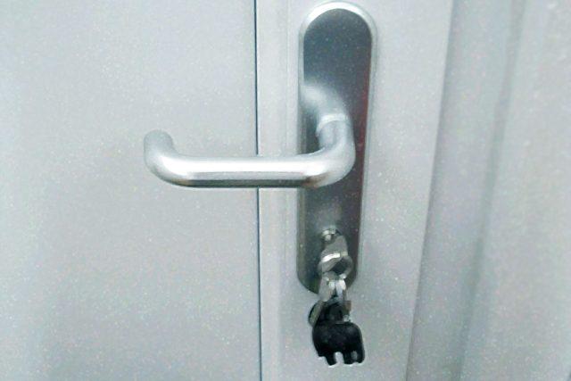 klika, dveře, zámek, klíče