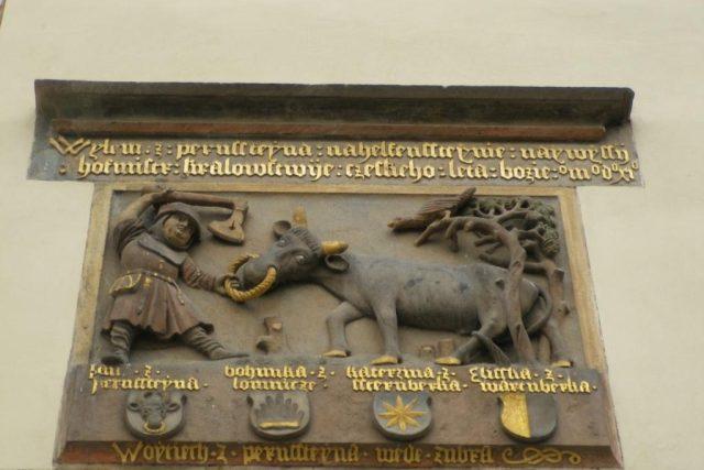 Vyobrazení staré pernštejnské pověsti o zubrovi