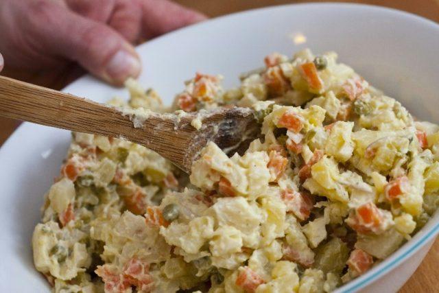 Bramborový salát - příprava