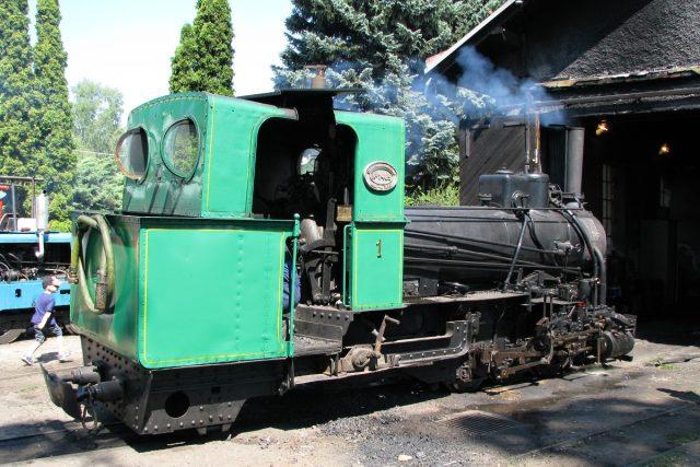 Historická parní lokomotiva z roku 1918 v Mladějově | foto: Lukáš Peška