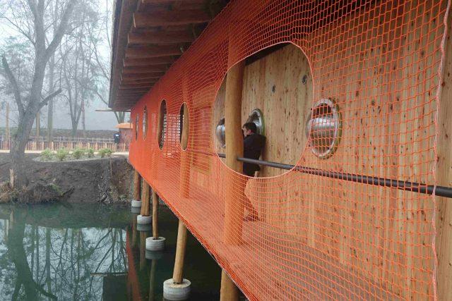 Součástí nového pavilonu je i pozorovatelna ptáků