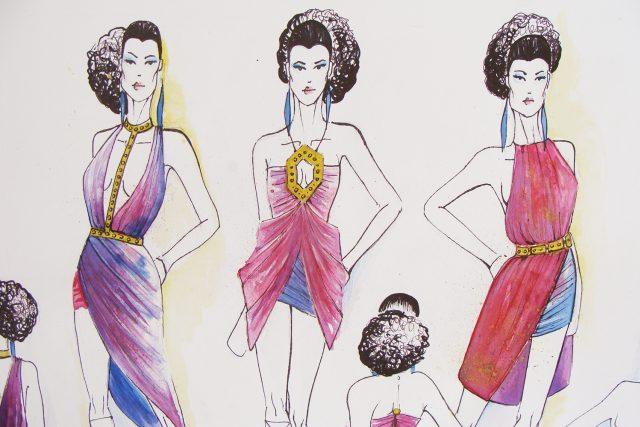 Návrhy studentek oděvního designu