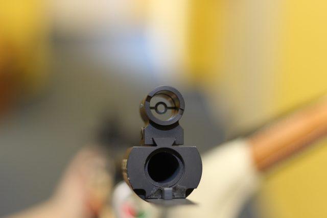 Detail biatlonové zbraně
