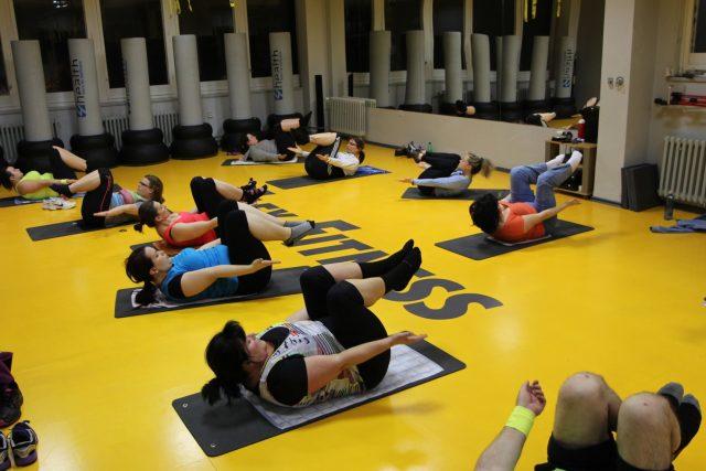 První cvičení - Pilates