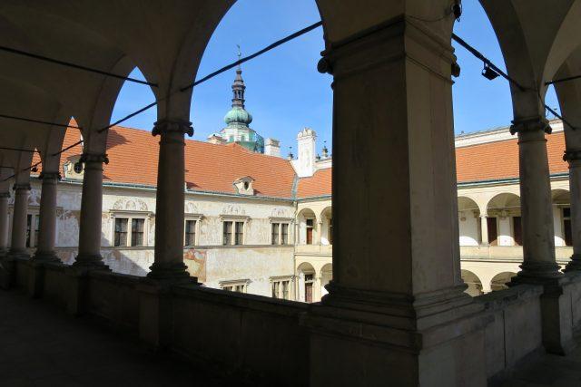 Pohled na druhém nádvoří zámku