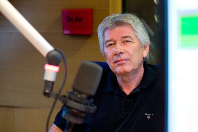 Petr Voldán byl hostem Dobrého rána   foto: Honza Ptáček,  Český rozhlas
