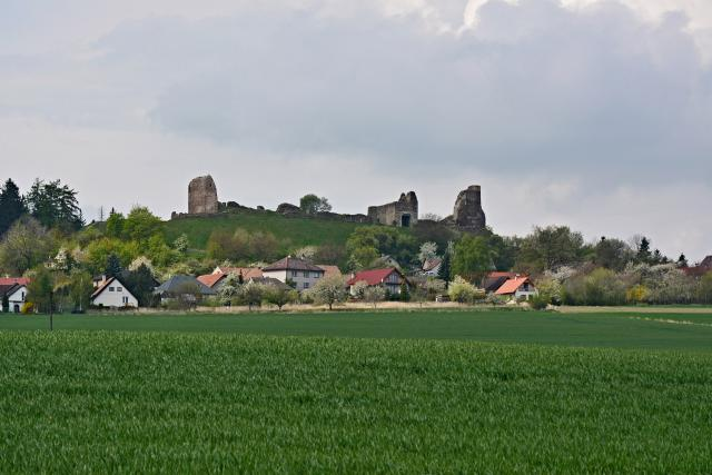 Silueta hradu Lichnice