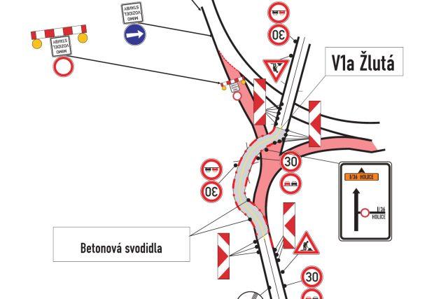 Přestavba křižovatky U Trojice | foto:  Statutární město Pardubice