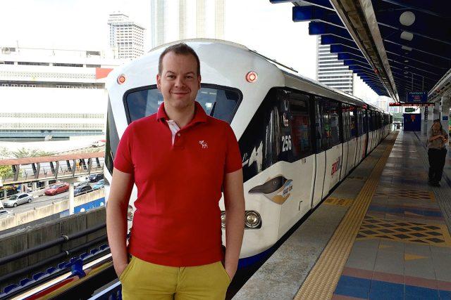 Michal Žák na nádraží v Kuala Lumpur | foto: Michal Žák